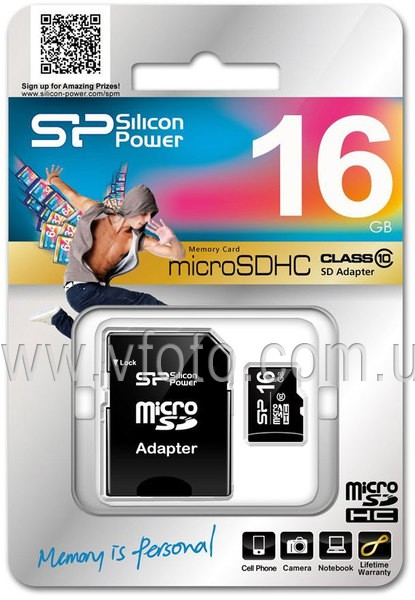 Карта памяти Silicon Power microSDHC 16 GB Class 10 (+ adapter) (5816632)