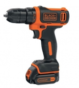 Шуруповерт Black&Decker BDCDD12B, 10.8V, 26Нм, Li-Ion, 2акк. (6283342)
