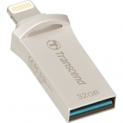 Flash Drive Transcend JetDrive Go 500, Lightning/USB 3.1 Silver