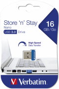 Flash Drive Verbatim Store 'N' Stay Nano 16GB USB 3.0 Blue (6573427)