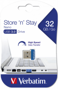 Flash Drive Verbatim Store 'N' Stay Nano 32GB USB 3.0 Blue (6573424)