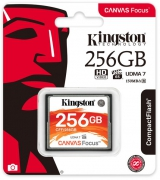 Карта памяти Kingston Compact Flash Canvas Focus 256 GB (150R/130W) (6482536)
