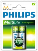 Аккумулятор Philips MultiLife Ni-MH R6 2700 mAh 1x2 шт.