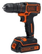 Шуруповерт Black&Decker BDCDC18KB, 18V, 30Нм, Li-Ion, 2акк. (6309673)