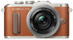 Цифровая фотокамера Olympus E-PL8 14-42 mm Pancake Zoom Kit Brown/Silver (6315669)